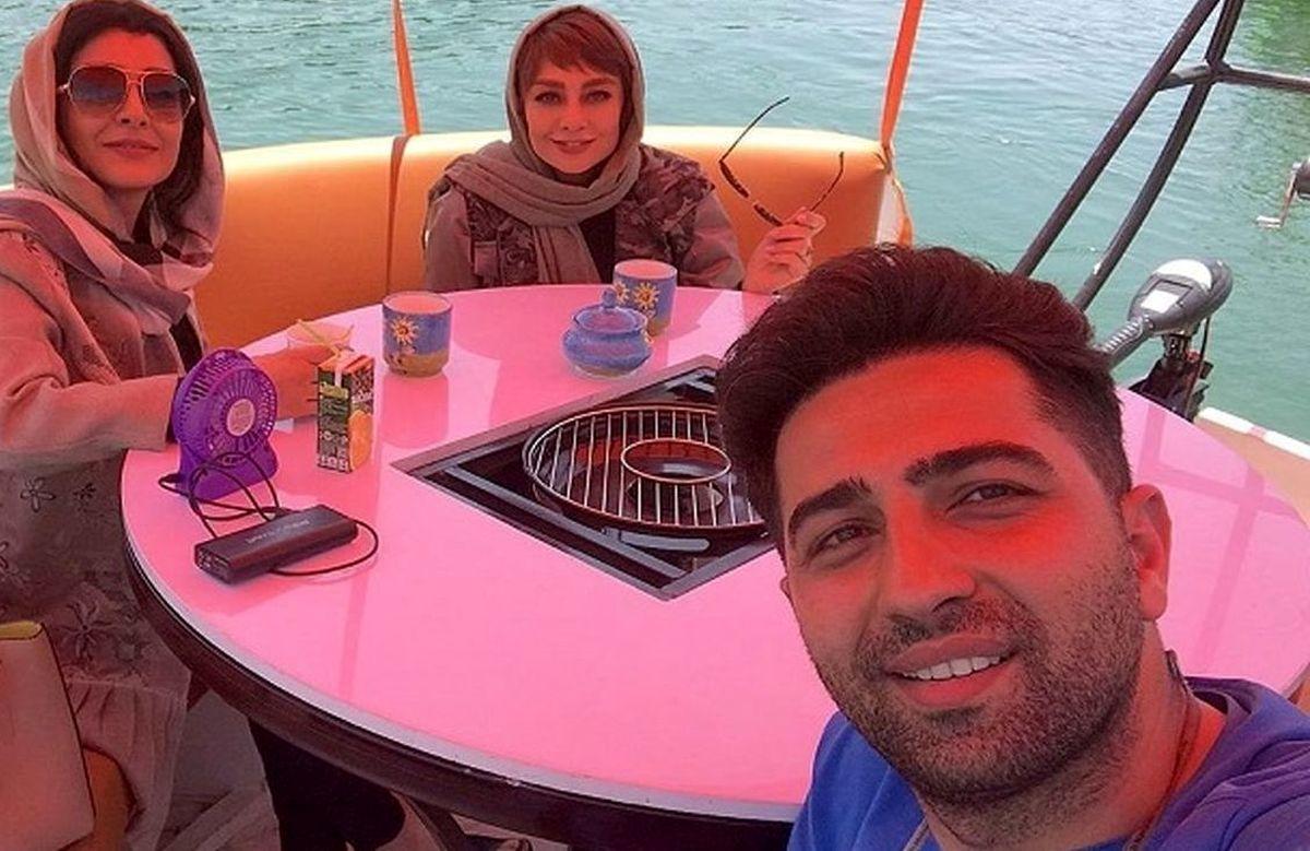 لاکچری بازی ساره بیات و یکتا ناصر وسط آب! +عکس
