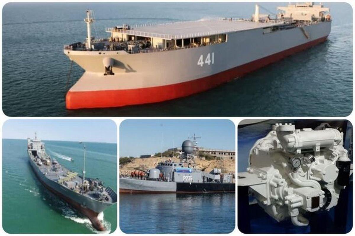 غولهای نظامی ایران در دریا