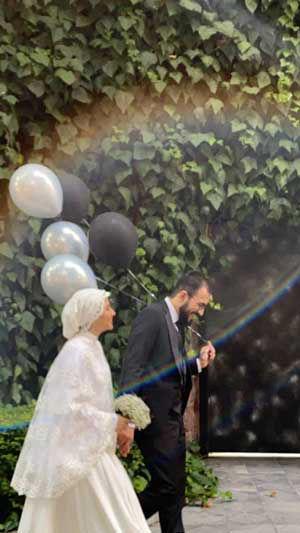 عروس و داماد در خیابان ولیعصر