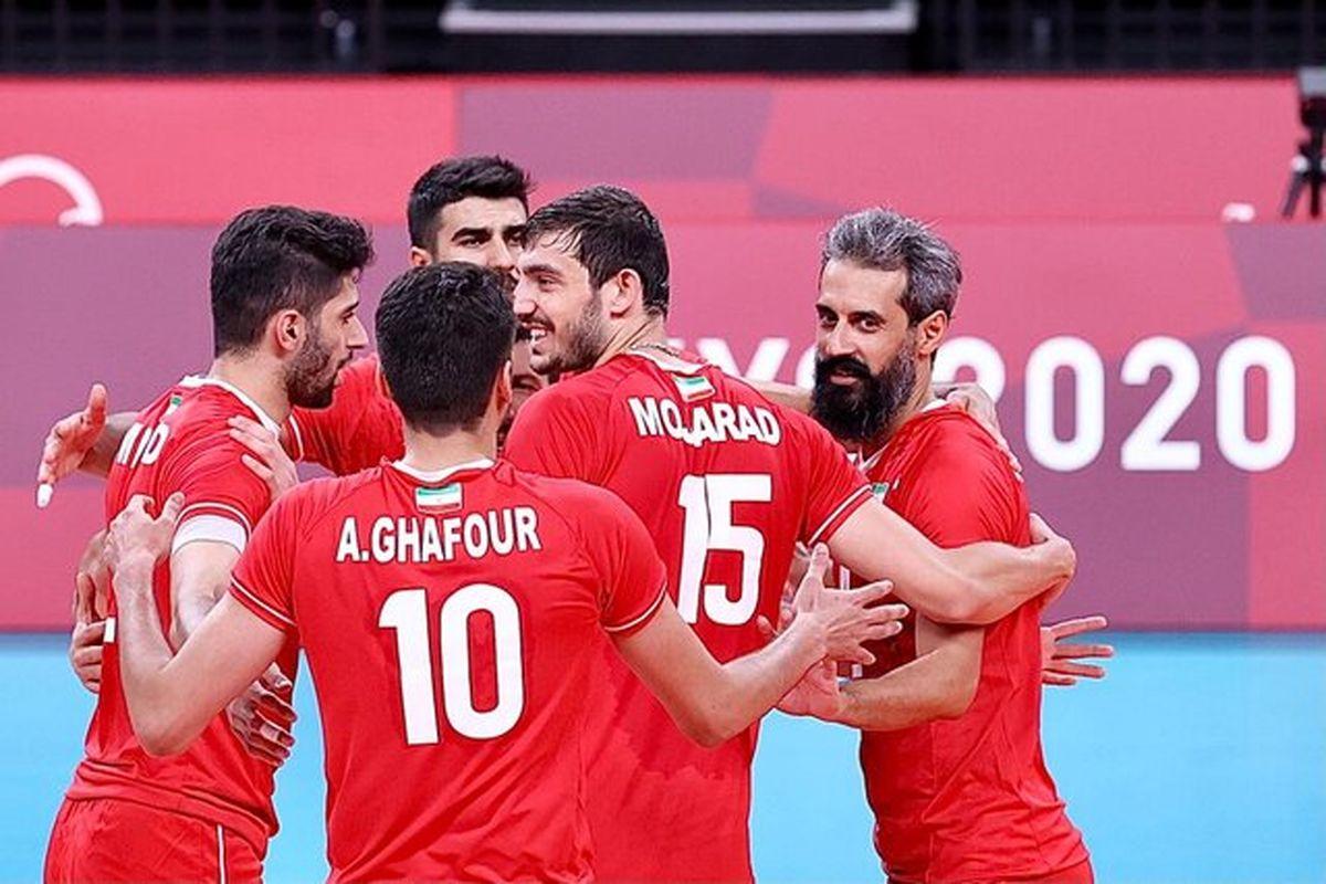 پیروزی یک طرفه والیبال ایران مقابل ونزوئلا